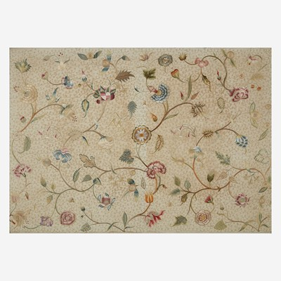 Lot 42 - An English embroidered silk panel
