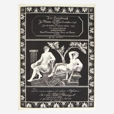 Lot 113 - [Printing] Senefelder, Alois