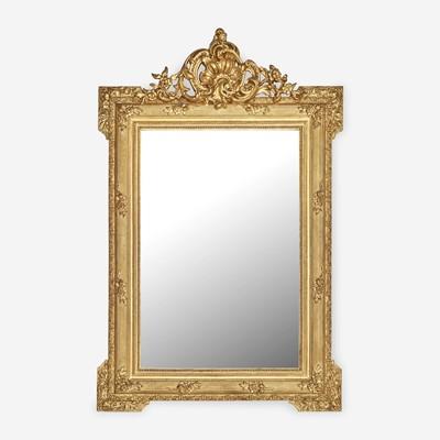 Lot 23 - A Louis XVI Style Giltwood Mirror