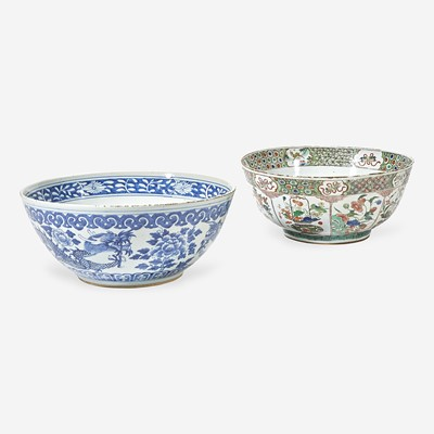 Lot 96 - Two Chinese Export porcelain punch bowls