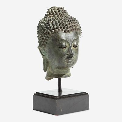 Lot 114 - A Thai Chieng-Saen style head of a Buddha