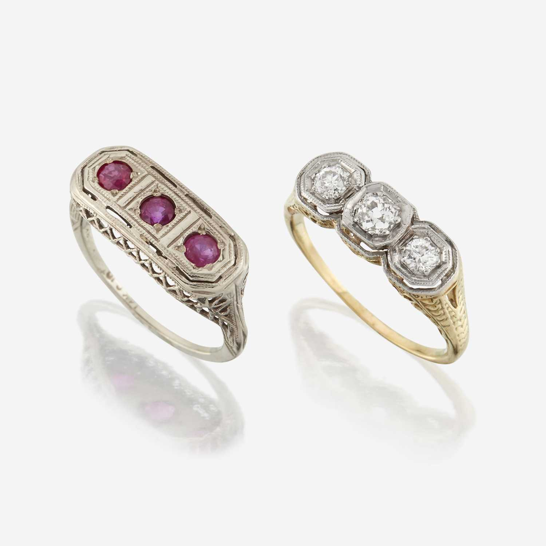 Lot 18 - Two gem-set rings