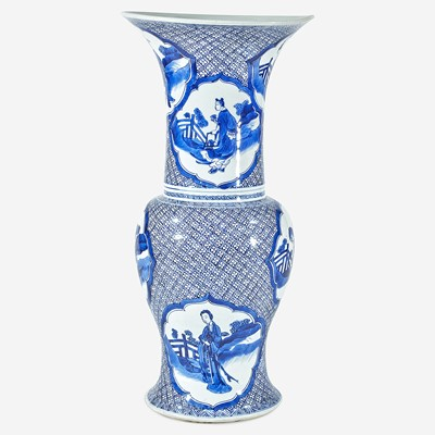 "Lot 68 - A Chinese blue and white porcelain ""Phoenix-tail"" ""Eight Daoist Immortals"" vase"