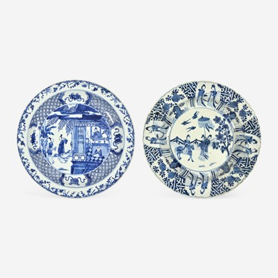 Lot 84 - Two Large Chinese Blue and White Porcelain Dishes