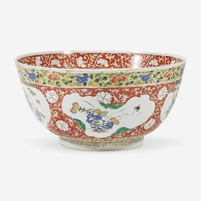 Lot 37 - A Chinese famille verte-decorated porcelain large bowl