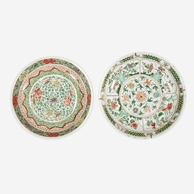 Lot 81 - Two Chinese Famille Verte-Decorated Porcelain Dishes
