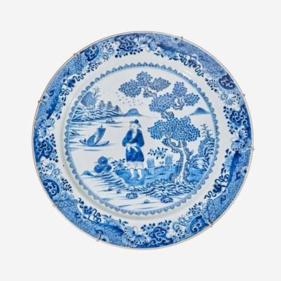 Lot 98 - A large Chinese porcelain blue and white charger