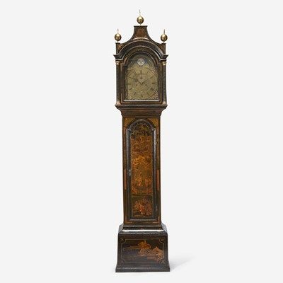 Lot 95 - A George III Japanned Tall Case Clock