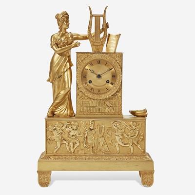 Lot 41 - A French Gilt Bronze Mantel Clock