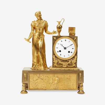 Lot 43 - A French Gilt Bronze Mantel Clock