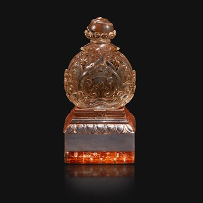 Lot 93 - A Chinese carved rock crystal seal