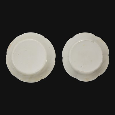 Lot 24 - An associated pair of Chinese whiteware floriform dishes