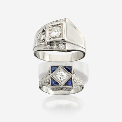 Lot 70 - Two diamond and white gold rings