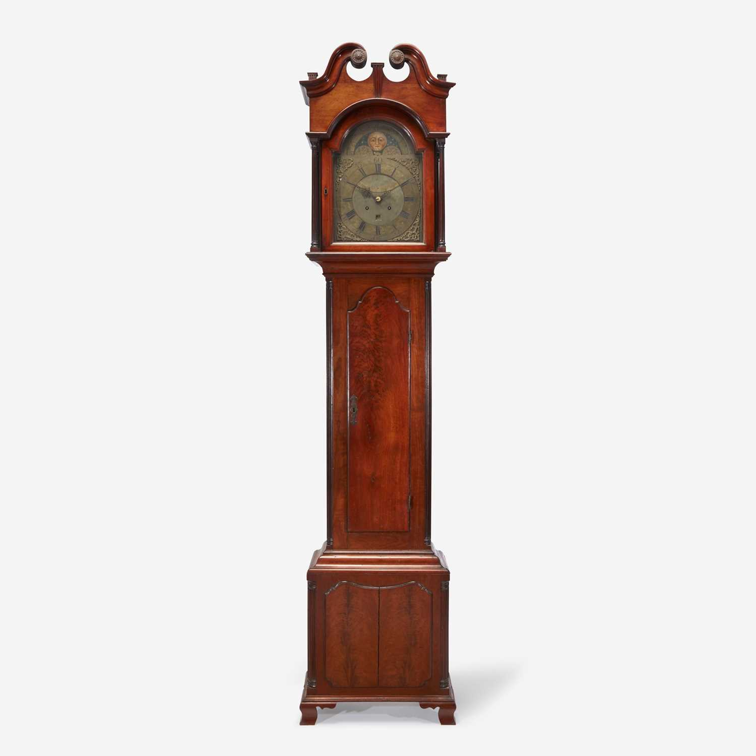 Lot 50 - A Chippendale carved mahogany tall case clock