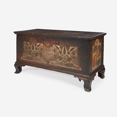 Lot 49 - A Chippendale painted and decorated blanket chest