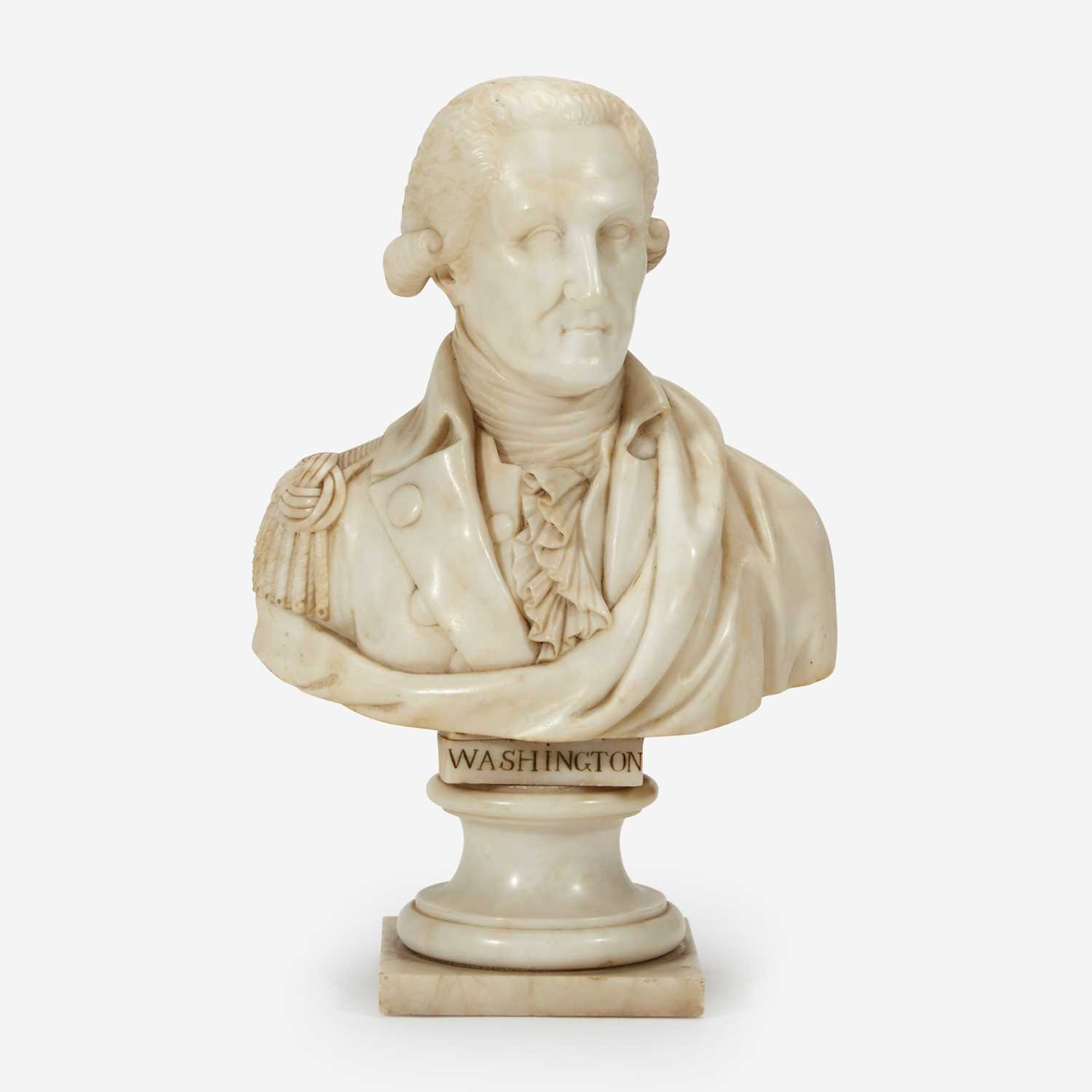 Lot 1 - A small marble bust of General George Washington (1732-1799)