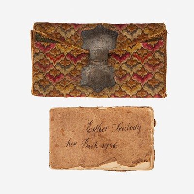 Lot 43 - An Irish stitch pocketbook of John Stevens, Jr.