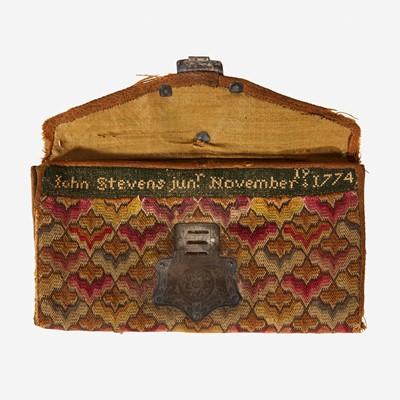 Lot 43 - An Irish stitch pocketbook of John Stevens, Jr.