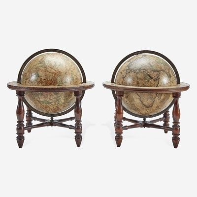 Lot 119 - A pair of terrestrial and celestial tabletop globes