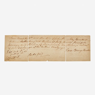 Lot 21 - [Autographs & Manuscripts] Rodney, Caesar