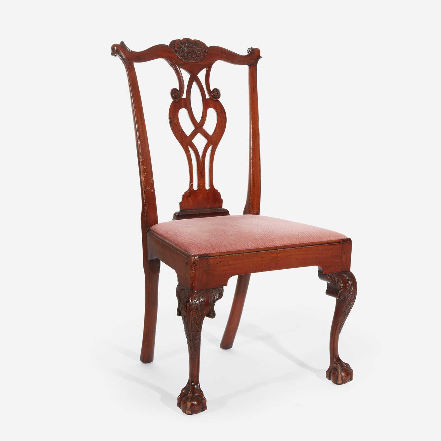 Lot 63 - A Chippendale carved mahogany side chair