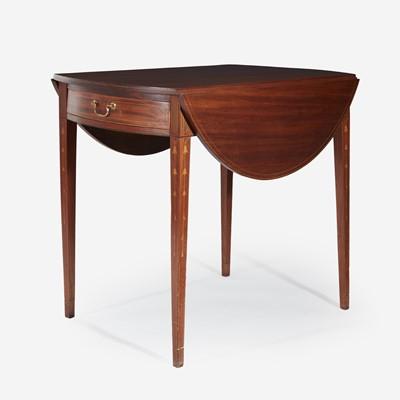 Lot 138 - A Federal inlaid mahogany pembroke table
