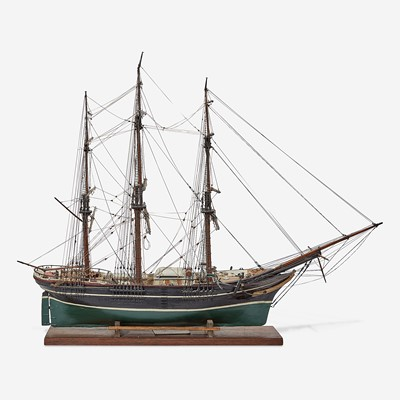 Lot 115 - A carved and painted model of the Ship Philadelphia