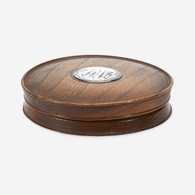 """Lot 9 - A patch box made from William Penn's """"Treaty Elm"""""""