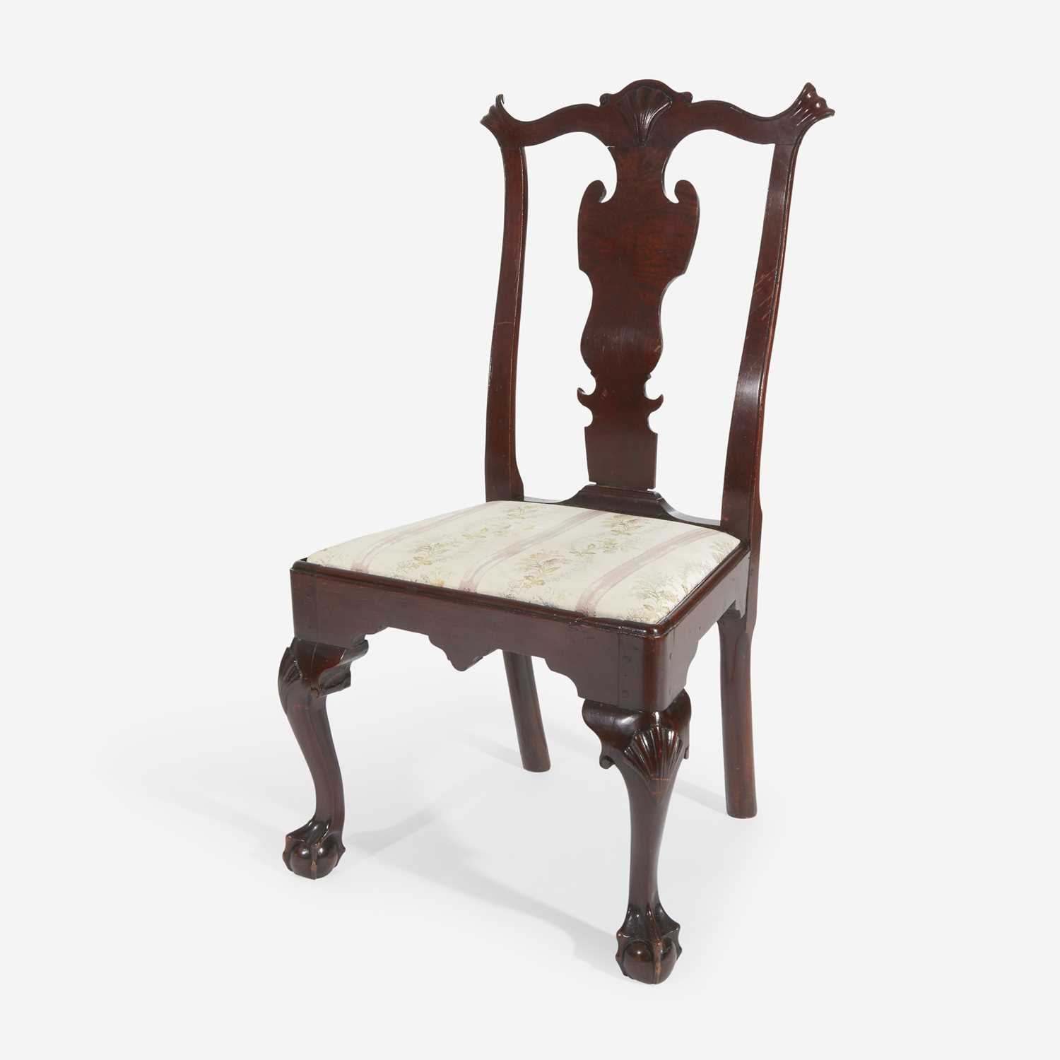 Lot 65 - A Chippendale carved mahogany side chair