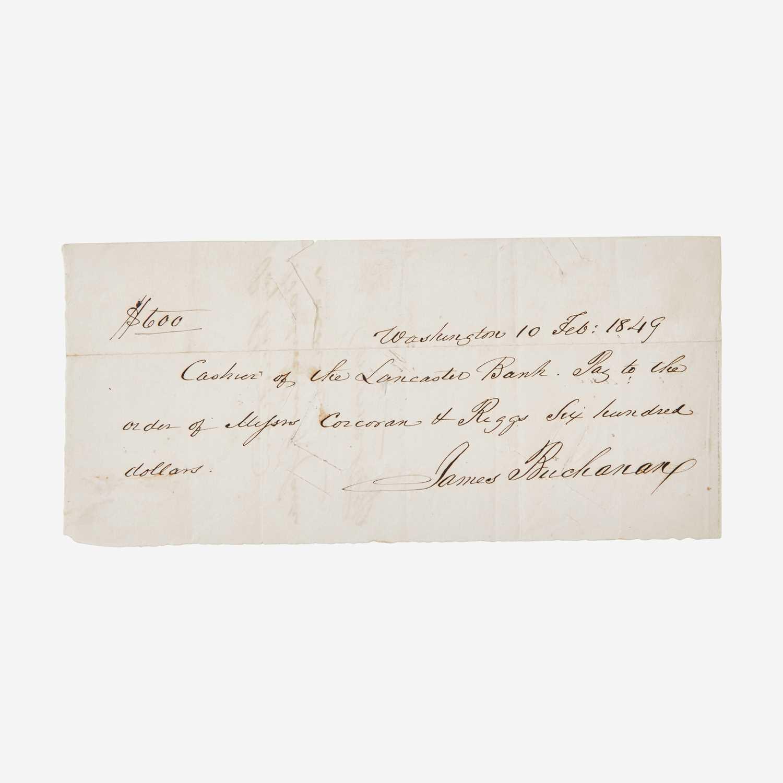 Lot 92 - [Presidential] Buchanan, James