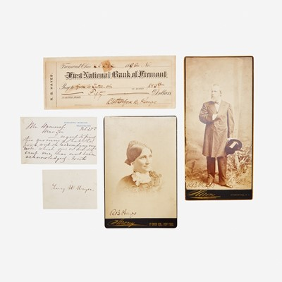 Lot 96 - [Presidential] Hayes, Rutherford B., and Lucy Hayes