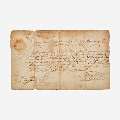 Lot 46 - [Philadelphia & Pennsylvania] Penn, William