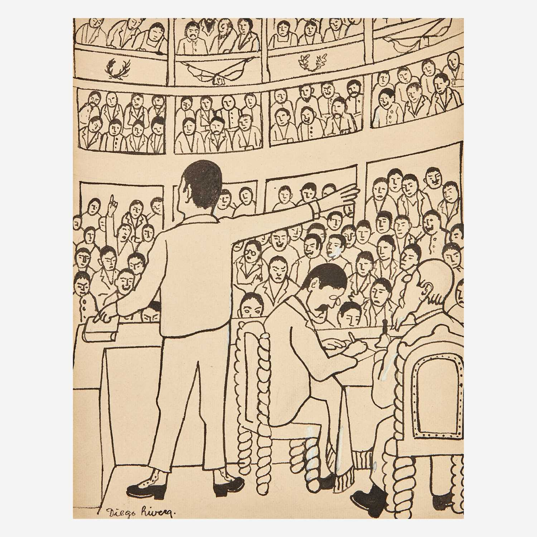 Lot 15 - Diego Rivera (Mexican, 1886-1957)