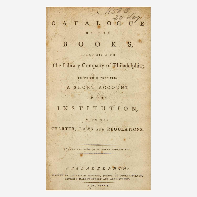 Lot 45 - [Philadelphia & Pennsylvania] [Library Company of Philadelphia, The]