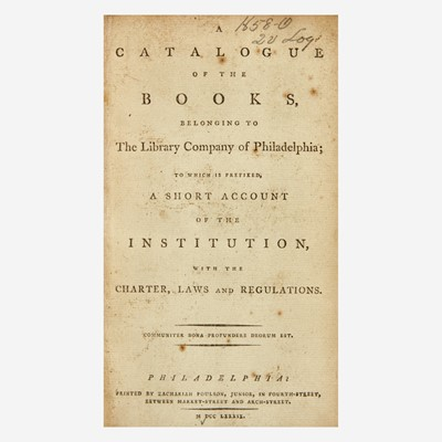 Lot 45 - [Philadelphia & Pennsylvania] [Library Company of Philadelphia, The]