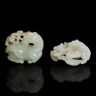 Lot 118 - Two Chinese jade pendants 玉佩两件