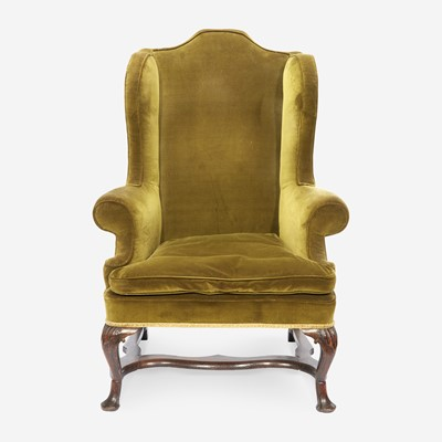 Lot 98 - A George II Carved Walnut Easy Chair