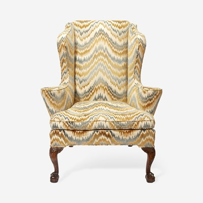 Lot 100 - A George III Carved Mahogany Easy Chair