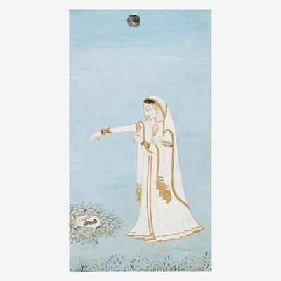 Lot 150 - Two Indian miniature paintings 印度袖珍画两幅