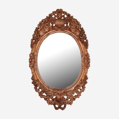 Lot 165 - A Dutch Baroque Carved Wood Mirror