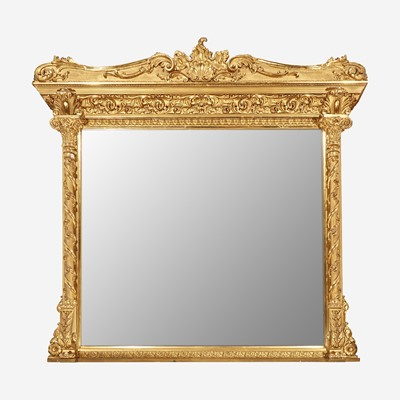 Lot 38 - A Large Classical Giltwood Overmantel Mirror