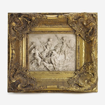 Lot 14 - A French Composition Marble Wall Plaque