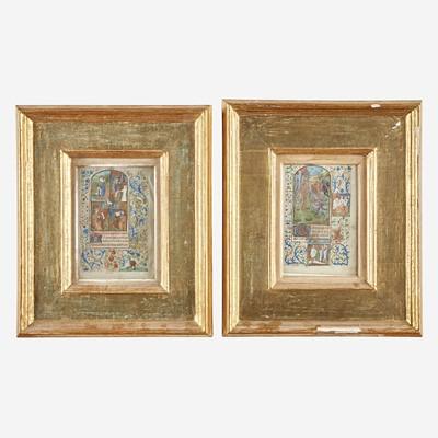 Lot 144 - Two Framed Illuminated Manuscript Leaves