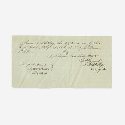 Lot 112 - [Presidential] Grant, Ulysses S.