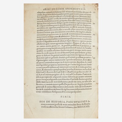 Lot 57 - [Early Printing] Aristotle