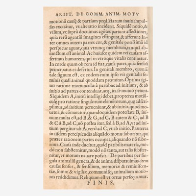 Lot 59 - [Early Printing] [Aristotle]