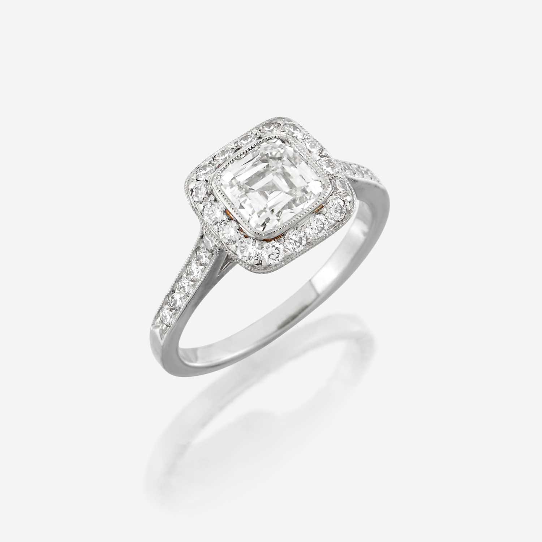 Lot 66 - A diamond and platinum ring, Tiffany & Co.