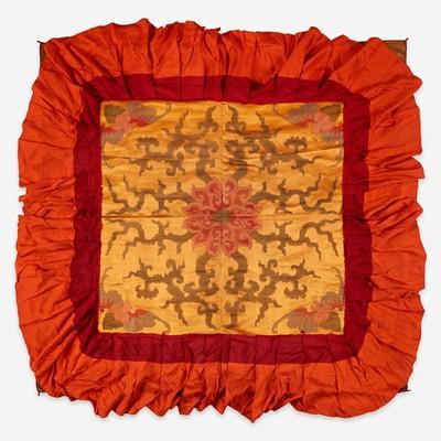 Lot 175 - A Sino-Tibetan silk canopy 丝绸伞盖