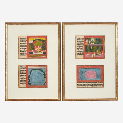Lot 169 - A group of four small Indian folios 印度册页一组四张