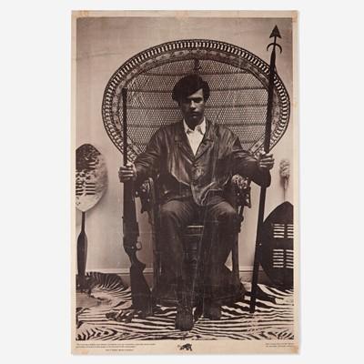Lot 95 - [Posters] [Black Panthers] (Stapp, Blair, and Eldridge Cleaver)